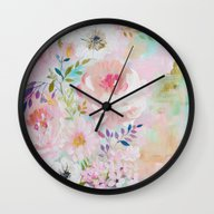 Acrylic Rose Garden  Wall Clock