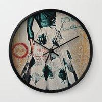 Carte Postale Wall Clock