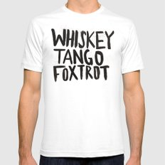Whiskey Tango Foxtrot SMALL Mens Fitted Tee White
