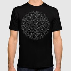 YO Patern Mens Fitted Tee SMALL Black