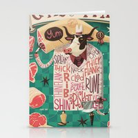 'Cows are REALLY Meaty!' Stationery Cards