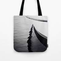 Reflections Black And Wh… Tote Bag