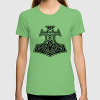 Thor's hammer Womens Fitted Tee Grass SMALL