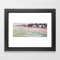 Beach View Framed Art Print