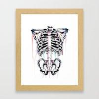 Skeleton #2 Framed Art Print