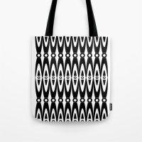 Black Pattern Tote Bag