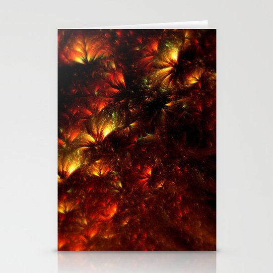 Fire-Flowers Stationery Card