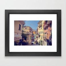 Cinque Terre Streets Framed Art Print