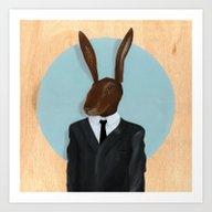 Art Print featuring David Lynch | Rabbit by FAMOUS WHEN DEAD