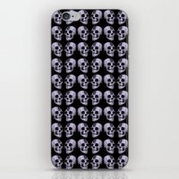 blue print skull iPhone & iPod Skin