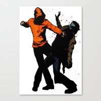 Zombie Fist Fight! Canvas Print