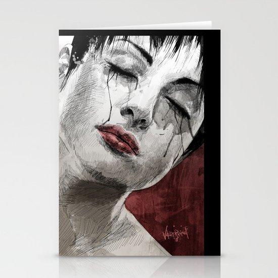 Venom and Tears Stationery Card