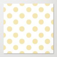 Polka Dots (Vanilla/White) Canvas Print