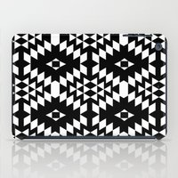 Aztec Inspired Pattern White & Black iPad Case