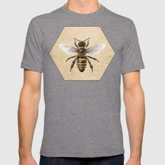 Bee Mens Fitted Tee Tri-Grey SMALL
