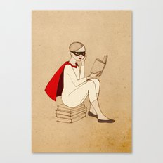 Superhero reader Canvas Print