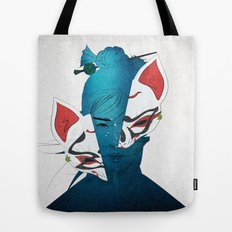 Fox Mask Tote Bag