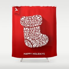 Happy holidays - Boot Shower Curtain