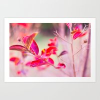 Princess Leaves Art Print