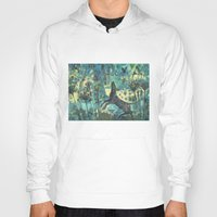 Hoody featuring Dog in the garden. by Nato Gomes