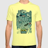 Ghostbusters Mens Fitted Tee Lemon SMALL