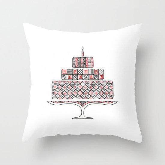 Patterned Cake Throw Pillow