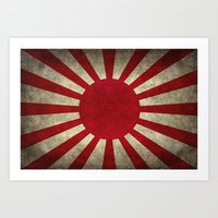 The imperial Japanese Army Ensign Flag Art Print