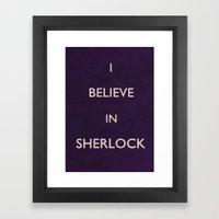 No. 4. I Believe In Sherlock Framed Art Print