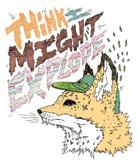 Foxplosion Art Print