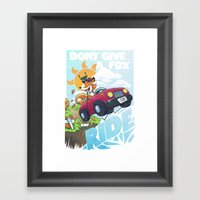 Don´t give a fox Framed Art Print