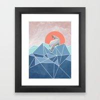 Polar Bear Live In North… Framed Art Print