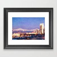 BAY BRIDGE GLOW Framed Art Print