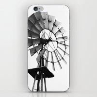 Windmill Black And White iPhone & iPod Skin
