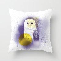 The Calm Owl Throw Pillow