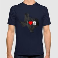 I (Heart) TX Mens Fitted Tee Navy SMALL