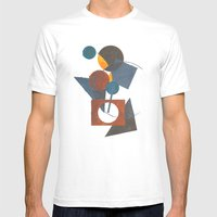 Constructivistic painting Mens Fitted Tee White SMALL