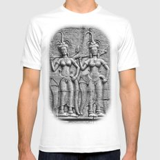 Cambodian Fertility Goddesses Mens Fitted Tee White SMALL