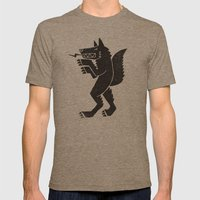 WEREWOLF, MAN WOLF Mens Fitted Tee Tri-Coffee SMALL
