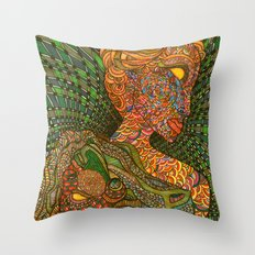 Scarlet & Equine Throw Pillow