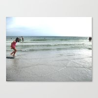 Having Loads Of Fun On T… Canvas Print
