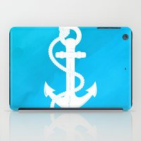 White Anchor iPad Case
