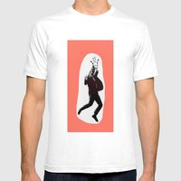 Giraffe In A Suit By Deb… Mens Fitted Tee White SMALL