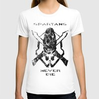 Spartans Never Die  |  H… Womens Fitted Tee White SMALL
