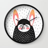 A Strange Little Bunny Wall Clock