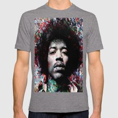 HENDRIX Mens Fitted Tee Tri-Grey SMALL