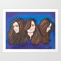 Jenna Louise Coleman Art Print