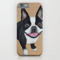 iPhone & iPod Case featuring Boston Terrier by PaperTigress