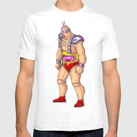 Krang Mens Fitted Tee White SMALL