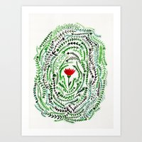 Pretty flower Art Print