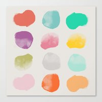 Colored Dots Canvas Print